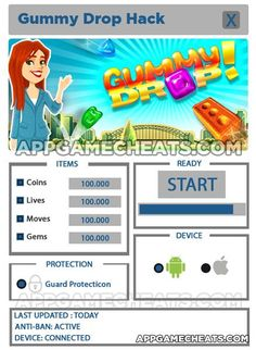 Gummy Drop Hack & Cheats for Coins, Lives & Moves - http://appgamecheats.com/gummy-drop-hack-cheats-for-coins-lives-moves/