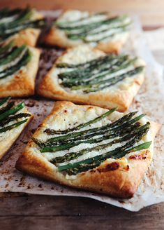 Simple and delicious Asparagus Tarts with Ricotta and Honey Lemon Sauce. Puff pastry simplifies this recipe. Perfect  for entertaining!