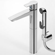 Oras Cubista, washbasin (bidet) faucet with Bidetta multi-purpose hand shower and rapid pop-up waste (2802)