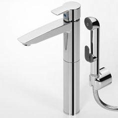 Oras Cubista, washbasin (bidet) faucet with Bidetta multi-purpose hand shower and rapid pop-up waste (2802)