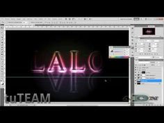 Photoshop Texto luminoso con efecto arcoiris ADNDC/tuTEAM - YouTube