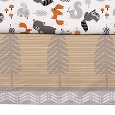 Cute for a nature baby room! Woodland Nursery Decor, Woodland Baby Bedding, Forest Nursery, Bird Stand, Nursery Crib, Woodland Animals, Forest Animals, Wild Animals, Crib Bedding Sets