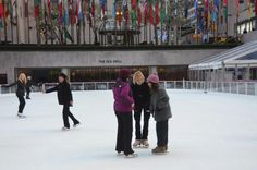 JoJo's Cool Workout at the Ice Skating Rink at Rockefeller Center Photo Gallery: About.com's Figure Skating Expert JO ANN Schneider Farris at JoJo's Cool Workout