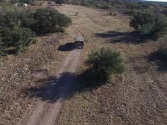 This is a video I took with my drone following a military style hummer down a dirt road.