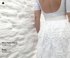 #BELLMUR #Verano16   El color del verano en un look romántico y ultra femenino.   - Maxi Falda Nácar // SKBELL32 - Body // BDBELL02  ¡Te esperamos en nuestro local de Montevideo Shopping!