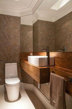 10 Lavabos com bancadas de madeira - veja dicas e modelos lindos! - Decor Salteado - Blog de Decoração e Arquitetura