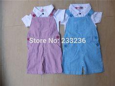 2017 novo bebê meninos verão definir conjunto de roupas meninas terno (T-shirt + Macacão) 2 pcs roupas romper do bebê Macacões Infantis