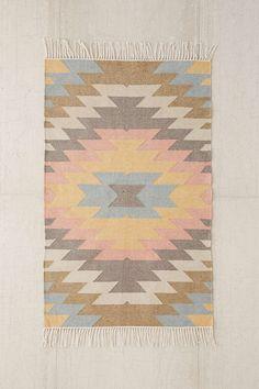 Perfect for Garage space indoor/outddoor $529  Faded Kilim Indoor/Outdoor Woven Rug