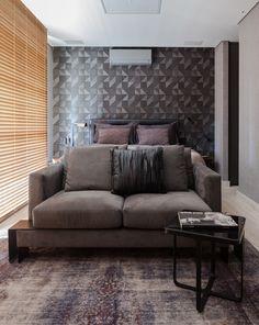 Decoração de: Sala de estar; cama de casal; Casa de Valentina