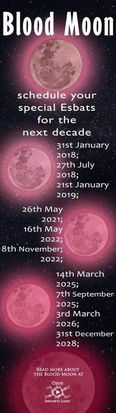 Blood Moon Calendar (Pinterest)