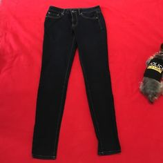 Dark jeggings that stretch Jessica Simpson dark jeans that stretch (kiss me jeggings) So comfy barely worn, size 29. Jessica Simpson Jeans Skinny