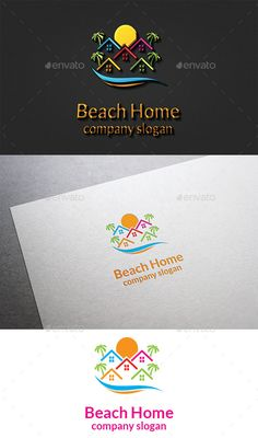 Beach Home Logo by design_big Available in EPS 10 & AI 10 Vector format CS format fully editable Easy to change text and color Resizeable Use free font Font li