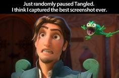 I just paused tangled on the best screenshot ever