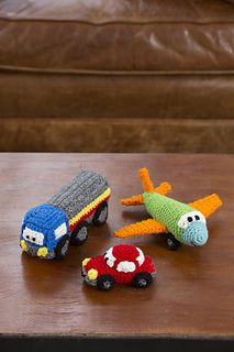 Happy Little Car, Plane & Truck | Free crochet pattern via Ravelry