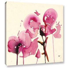 ArtWall Karin Johannesson Orchids I Gallery-Wrapped Canvas, Size: 24 x 24, Pink