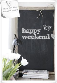 weekend = friends & family