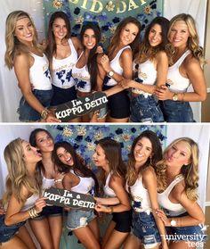 """Sisterhood is not a destination, but a journey."" Crazy cute Bid Day tanks for #KD #KappaDelta #Sorority | Made by University Tees | www.universitytees.com"