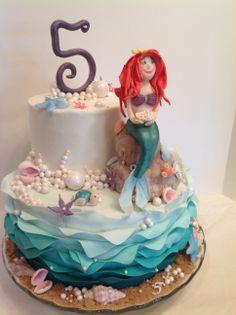 Ariel, the mermaid birthday cake