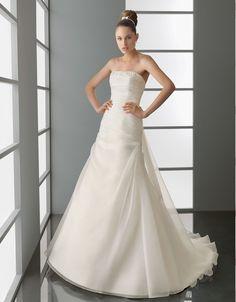 ランディブライダル ウェディングドレス Aライン ビスチェ コートトレーン サイズオーダー 挙式 ブライダル 結婚式 021173034004