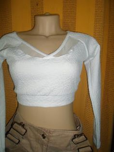 Brecho Online - Belas Roupas: Blusa Cropped Branca