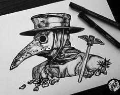 Risultati immagini per dr plague tattoo