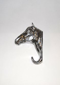 White Faux Taxidermy  Chrome Resin Horse by WhiteFauxTaxidermy, $44.99