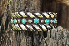 RIBBONS CUFF  Slim Leather Cuff with by KismetCrystalDesigns, $53.00