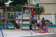 Bom mesmo é ver as crianças aproveitando - Praça Bicentenário