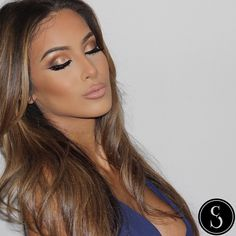 CHRISTINA SIKALIAS @makeupby_christina Instagram photos | All That Glitters, Uninterrupted and Embark all by MAC#AnastasiaBrows Brow wiz in soft brown, Cream Contour Series in Medium, YSL lip liner #13 and Honey Love Lipstick by MAC