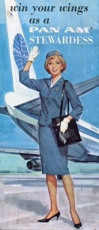 "1967 - Pan American World Airways ""Win Your Wings"" Flight Attendant Recruiting Advertisement - Pan American Airways History and Memorabilia Retro Airline, Airline Travel, Vintage Airline, Airline Tickets, Air Travel, Aeropostale, Retro Poster, Poster Vintage, Pan Am"