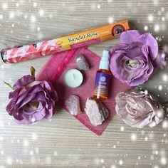 Goddess Lunar Spray Pack – Crystal Spirits Crown Chakra, Pink Stone, Heart Chakra, New Age, Incense, Rose Quartz, Tea Lights, Packing, Spirit