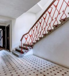 Reconstruction of cubistic flat in Prague. Metal Railings, Prague, Stairs, Flat, The Originals, House, Ideas, Home Decor, Stairway