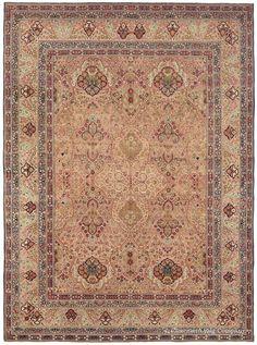 Antique Persian Rugs - Antique Carpet - Room Size Laver Kirman