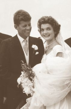 Jack and Jackie on their wedding day, September 12, 1953, in Newport, Rhode Island