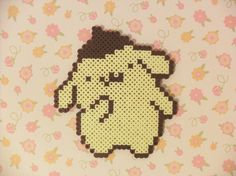 Perler Berd Pom Pom Purin by KawaiiLittlePresents on Etsy, $4.99