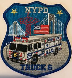 NYPD Huntsman ESU Truck 9 Ver 3 Police Cars, Police Badges, Police Vehicles, Nypd Blue, Firefighter Paramedic, New York Police, Thread Up, Police Patches, Swat