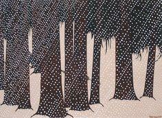 "Art Hansen, ""Snow Storm"" 09. Seattle artist Black White Art, Pablo Picasso, American Art, Printmaking, New Zealand, Illustrators, Graphic Art, Japanese, Watercolor"