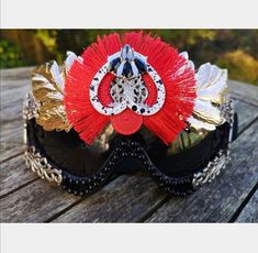 Items similar to Black and Red Festival Goggles with Fringe Details Rave Clothing Accessories Statement Unique Different Handmade on Etsy Handmade Accessories, Bridal Accessories, Handmade Items, Festival Sunglasses, Rave Mask, Burning Man Outfits, Rave Outfits, Holiday Fashion, Round Sunglasses
