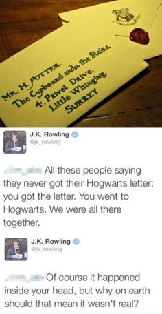 Thank you, Ms. Rowling, for taking us all to Hogwarts with you