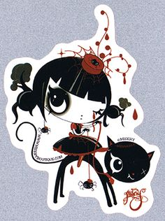 Misery sticker - Miss Muffet