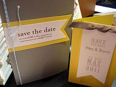 DIY: Save the Date-because its gray and yellow, our colors!