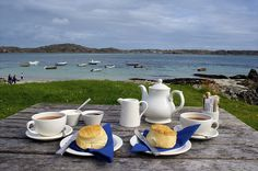 Excellent food and wonderful view.  Tea at the Argyll Hotel, Isle of Iona, Scotland