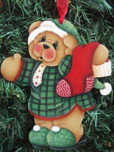 HP TEDDY BEAR with Stocking ORNAMENT | Artesanías, Piezas de artesanía y acabadas, Artículos pintados a mano | eBay!