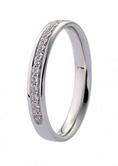 Forlovelsesring / giftering hvitt gull med diamanter 0,15ct