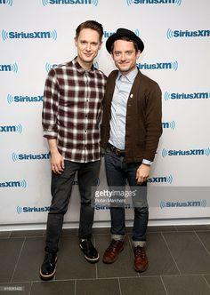 Samuel Barnett and Elijah Wood visit at SiriusXM Studio on October 21, 2016 in New York City.