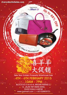 4-6 Feb 2015: myiMart Warehouse Sale for Kitchen Appliances & Bags Clearance at Kuala Lumpur