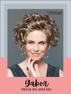 Soft all-over waves give this style beautiful fullness and lift. Long layers in the front, top and sides blend into a shorter nape. #hairstyles #hairdo #hairoftheday #styleinspo Gabor Wigs, Layers, Hairstyles, Top, Beautiful, Color, Layering, Haircuts, Hairdos