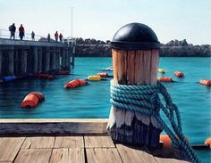 'Apollo Bay  Vic Australia'  102x75cm  This was one of the largest watercolours I have done. #watercolour #watercolor #painting #art#apollobay #greatoceanroad #bollard #artist by nick_truscott http://ift.tt/1LQi8GE