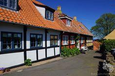 Typische Fachwerkhäuser auf Bornholm #Fachwerkhaus #Bornholm #Insel #Dänemark
