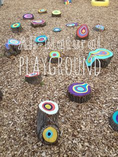 Colorful All-Natural Playground mymessielife.com